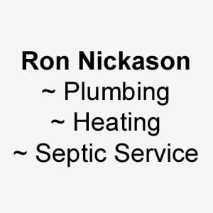 Ron Nickason Plumbing/Heating/Septic Service